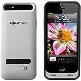 Boompods PCLGR PhoneCase für Apple iPhone 5, 2400mAh, leicht grau