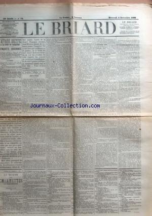 BRIARD (LE) [No 85] du 02/11/1898 - L'AFFAIRE DREYFUS A LA COUR DE CASSATION - CHRONIQUE BRIARDE - LE DRAME DES CHARMETTES PAR HENRI DEMESSE - TROISIEME PARTIE.