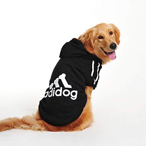 InnoPet Hunde, Große Hunde Hundemantel Adidog Hoodie Kostüm Kleidung Pullover Hund Winter Coat Warm Sweatshirt Winter Hund Bekleidung für Kalte Wetter, 5XL, Schwarz