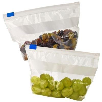 Lakeland Zip Seal Freezer Plastic Food Storage Bags (6.5 x