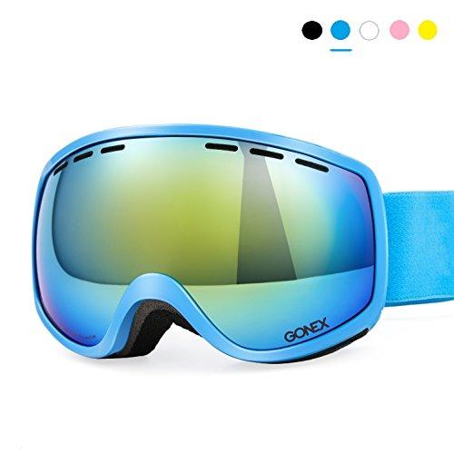 Skibrille Kinder, Gonex Snowboardbrille für Junge und Mädchen, Anti-Fog und 100% UV Schutz