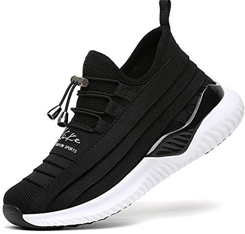 ASHION Kinder Turnschuhe Jungen Sport Schuhe Mädchen Kinderschuhe Sneaker Outdoor Laufschuhe für Unisex-Kinder(B-schwarz,37 (Schuhe Schwarz Für Kinder)