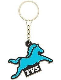 GCT TVS Logo Rubber Keychain | Keyring Key Ring | Key Chain For Your Car Bike Home Office Keys | For Men Women...