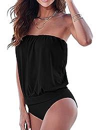 Minetom Mujer Traje De Baño Verano Bikini Conjunto Sin Tirantes Ropa De Playa Bañadores