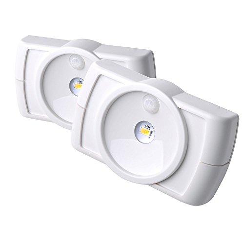 Mr Beams drahtloser LED-Batterieleuchte mit Bewegungssensor, 2 Stück, weiß MB852