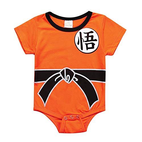 ALTcompluser Kinder Dragon Ball Son Goku Strampler Baby Body Romper Kleidung Jungen Mädchen(80 Stil 1) (Baby Goku Kostüm)