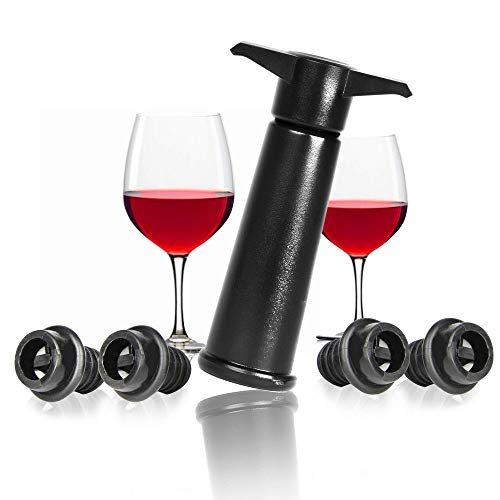 La Maison & White Vacuum Wine Saver es la manera óptima de mantener su botella de vino fresca durante los días posteriores a su apertura. El diseño único de Vacuum elimina todo el exceso de aire del interior de la botella para que el vino no se o...