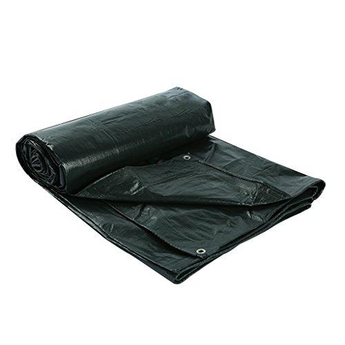 Tela de lluvia de lona negra Protector solar impermeable Triciclo de lona Toldo de lona Toldo de toldo Tela de Bupei, Grosor 0.25 mm, 180 g / m2, 14 Opciones de tamaño, Nota: Solo 1 se puede comprar al mismo tiempo 2 * 3 Cm ( Tamaño : 5*5 )