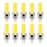 Lampadine a LED in silicone G4, lampadina a risparmio energetico COB a doppio ago 3W (sostituzione equivalente 30W) adatta for illuminazione domestica, AC12-24V (confezione da 10) yd&h