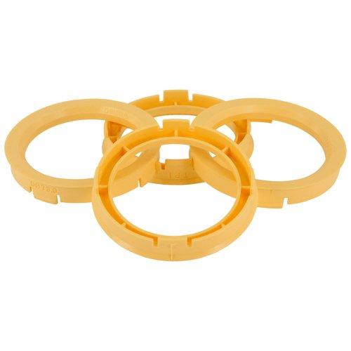 Set mozzo ruota TPI-Anelli 60.1- > 54.1mm-Giallo - Quattro Hub Centric Anelli
