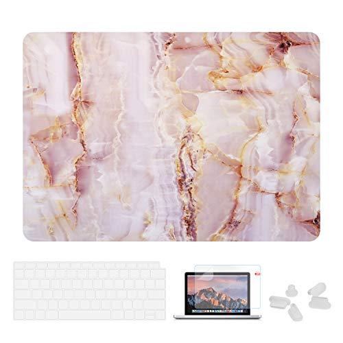 Utryit Schutzhülle für MacBook Air 13 (A1369 & A1466, ältere Version 2010-2017, Marmor-Hartschale, Tastatur-Abdeckung und Displayschutzfolie für MacBook Air 13 PJH-016 (Air Macbook 2013-tastatur-abdeckung)