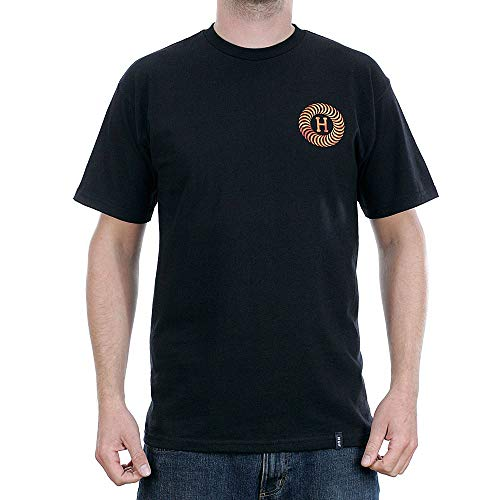 HUF x Spitfire Fire Swirl T-Shirt Black XL (Spitfire Skateboard-t-shirts)