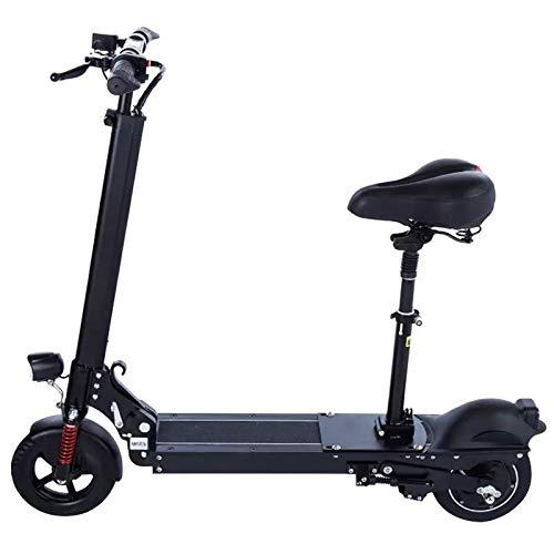 WMZX Zwei-Rad-Mini-Damen Klapp Lithium-Elektro-Fahrrad kleinen und einfachen Erwachsenen Reise Elektroroller, leicht zu Reisen (Color : Black, Size : 110X80CM)