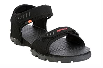 Sparx Men's Black Athletic and Outdoor Sandals - 6 UK/India (40 EU)(SS-101)