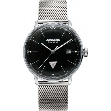 Junkers Unisex Analogue Watch with black Dial Analogue Display and Stainless steel plated gun metal - 6070M2