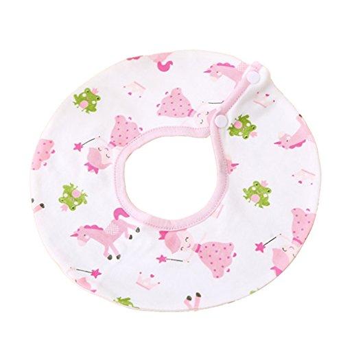QHGstore Unisex-Baby Wasserfeste Latzhose für Newborn Terry Dribbler Lätzchen Pferd (Pferd Feeder)