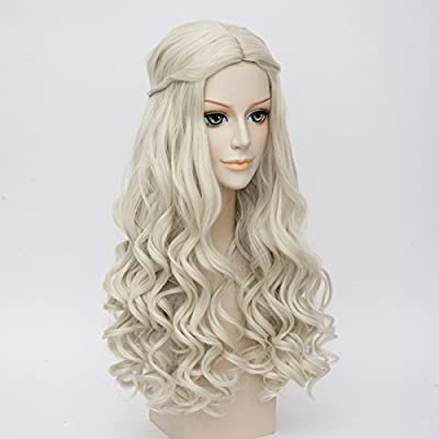 LightInTheBox Game of Thrones Cosplay Wig Daenerys Targaryen khaleesi Long Curly Hair (White)