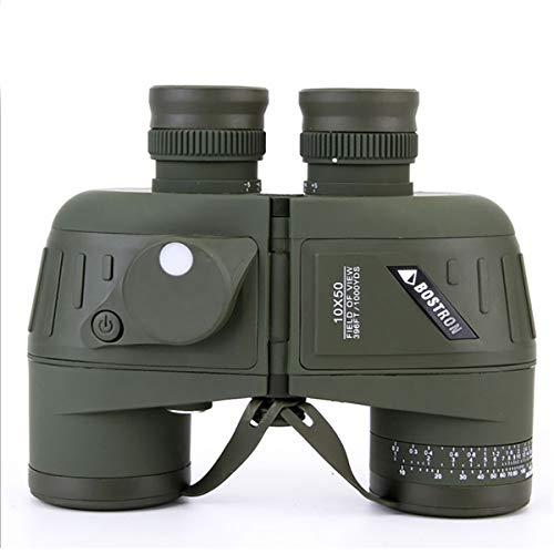 ZUZEN 10x50 Fernglas mit Nachtsicht Entfernungsmesser Kompass BAK4 FMC Militär Marine Fernglas Ferngläser Feldstecher mit Gurt und Tasche für Kinder Erwachsene