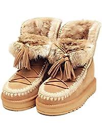 0bc5fc51 Calzados informales para mujer, botas de nieve a prueba de viento cálidas y  de invierno