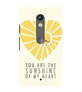 99Sublimation Sunshine 3D Hard Polycarbonate Back Case Cover for Motorola Moto X Force :: Dual SIM