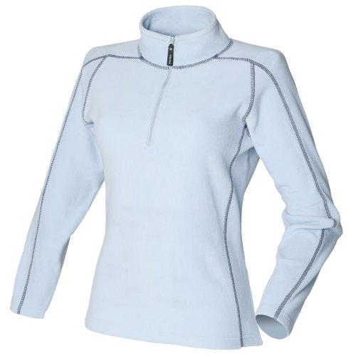 Front Row - Haut polaire à fermeture zippée - Femme Bleu clair/Bleu marine