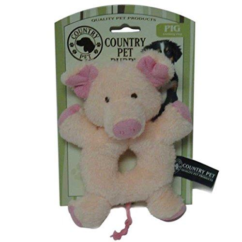 Artikelbild: Country Pets CP283016 Welpenspielzeug Schweinchen, Plüsch mit Raschelgeräusch, rosa