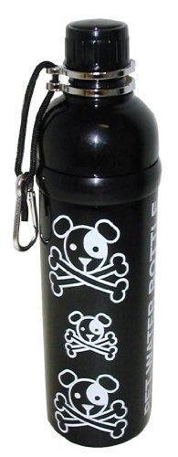Good Life Gear Stainless Steel Pet Water Bottle, 24-Ounce, Black Puppy Pirate Design by M.K. DISTRIBUTORS, INC. (English Manual) - Mk-designs