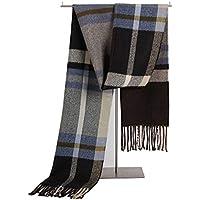 HYD Bufanda de Invierno Babero cálida Piel Gruesa de Punto Suave Cachemira Bufanda a Cuadros británica 25 * 18 * 8 cm (Hombres y Mujeres)