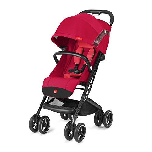 gb Gold Silla de paseo Qbit+, viaje de lujo, Travel System 3 en 1, desde el nacimiento hasta los 17 kg (4 años aprox.), Cherry Red