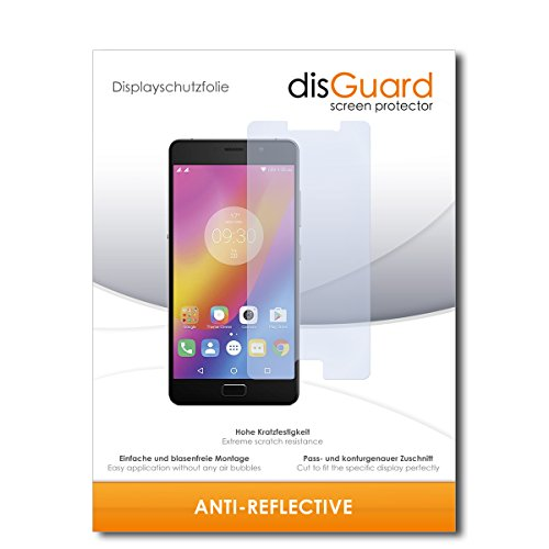 disGuard® Bildschirmschutzfolie [Anti-Reflex] kompatibel mit Lenovo P2 [2 Stück] Entspiegelnd, Matt, Antireflektierend, Extrem Kratzfest, Anti-Fingerabdruck - Panzerglas Folie, Schutzfolie