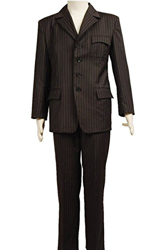 Who will be Doctor Dr Brown Pinstripe Suit blazer Hose Cosplay Kostüm Herren L (Doctor Who Cosplay)