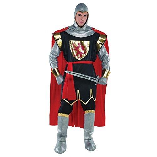Kostüme Schwarze Ritter Erwachsene (Tapfere Kreuzritter Kostüm für Erwachsene - PLUS)
