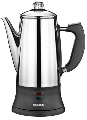 Butler Elektrischer Kaffee-Perkolator Kaffeekocher 1,8 Liter 12 Tassen 16150007