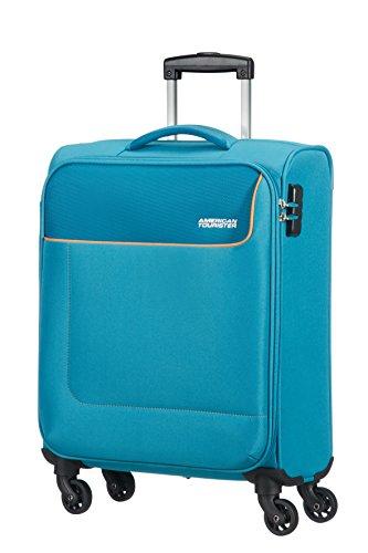 American Tourister- Funshine Spinner 4 Ruedas 55/20 Equipaje de Mano, Turquesa (Blue Ocean), S (55cm-36L)