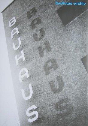 Bauhaus Poster Schriftzug Poster Kunstdruck