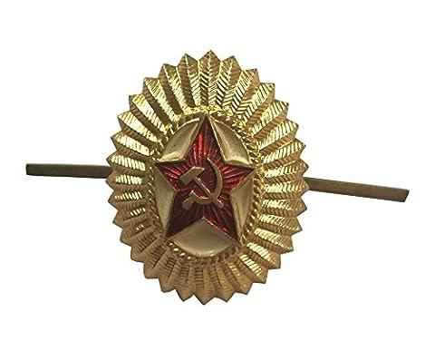 Era-major de l'Armée rouge soviétique 'HAMMER & Faucille avec bouchon rouge soviétique russe STAR'BADGE - Spilla Stella Pin