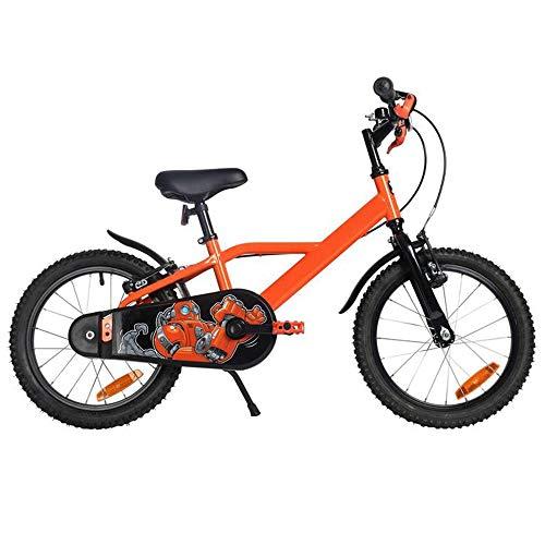 YUMEIGE Kinderfahrräder Kinderfahrräder, mit Car Bell Kinderfahrrad 16 Zoll Geeignet für 3-6 Kinder Jahre alt Geschenk 4 Farben erhältlich (Color : Orange) - Fahrrad-kette Bell