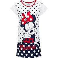 Disney Official Minnie Mickey Mouse Character Themed Girls Short Sleeve 100% Cotton Nightdress Nightie Pyjamas Sets pjs 2-8 Years