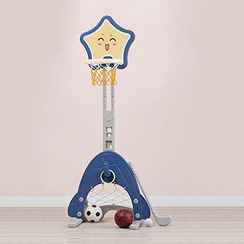 Basketballanlage Basketballnetz und -ständer, Basketballständer für Kinder, Basketballrahmen, Fußballtor, Golfschläger, Indoor-Schießausrüstung für 3-6-Jährige als Lern- / Geschenkartikel