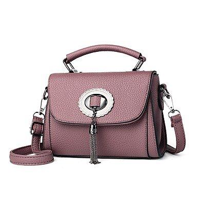 Damenmode PU Leder Schulter Messenger Crossbody Mini/Tasche Handtasche Tote Purple