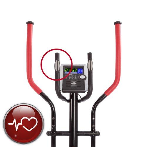 Ultrasport XT-Trainer 900M/1000A Crosstrainer/Ellipsentrainer mit Handpuls-Sensoren inkl. Trinkflasche - 4