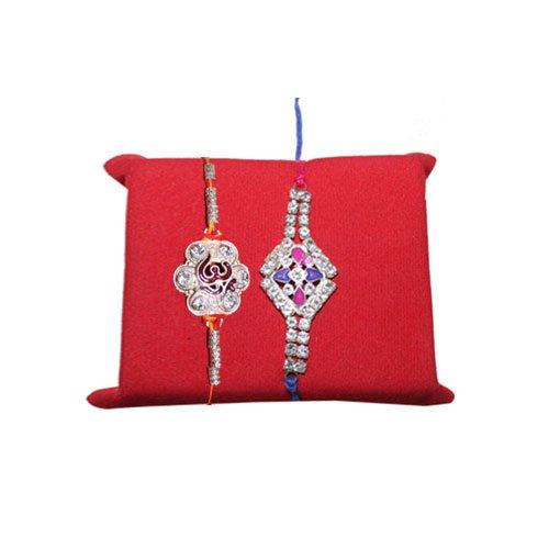 mandala-creations-set-de-2rakhi-nacr-or-avec-haldiram-soan-papdi-rakhi-combo-set