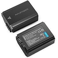 RAVPower NP FW50 2 Pack 1100mAh Kamera Akku für Sony Alpha7 / 7ii / 6500 / 6300 / 6000 / 5100 NEX-7 NEX-6 NEX-F3 NEX-3 NEX-3N NEX-C3 Nex-5 NEX-5N NEX-5T SLT A55V A33 A35 A37 usw. Vielseitige Ladeoptionen, 100% mit Original kompatibel