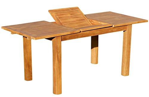 ASS Wuchtiger Teak Bigfuss Ausziehtisch Gartentisch 130-180×80 Holztisch Teaktisch Garten Tisch Holz BIGFUSS130-180