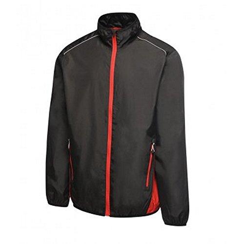 Regatta Activewear Herren Athens Kontrast Trainingsanzug Jacke (S) (Schwarz/Klassik Rot) (Activewear-jacke Farbe)