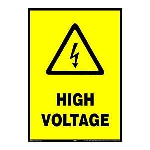 Mr. Safe – High Voltage Sign PVC Sticker A3 (11.7 inch X 16.5 inch)