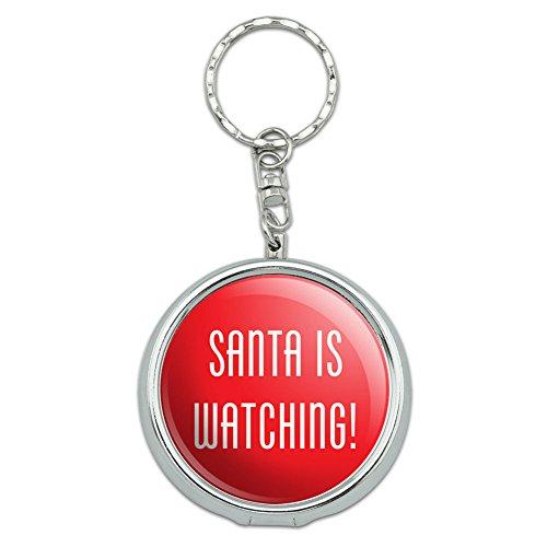Portable Travel Größe Pocket Geldbörse Aschenbecher Schlüsselanhänger Urlaub Weihnachten Halloween Santa is Watching Christmas