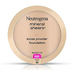 60 / Natural Beige : Neutrogena Mineral Sheers Loose Powder Foundation, Natural Beige 60, .19 Oz
