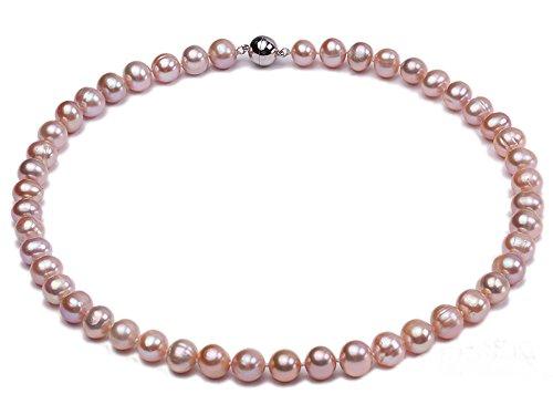 jyx 9-10mm collana di perle d' acqua