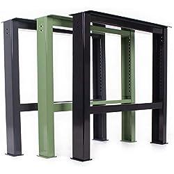 Monture en acier pour établi WBG-650/700-1000 - Hauteur réglable - Pied en acier (1pièce)